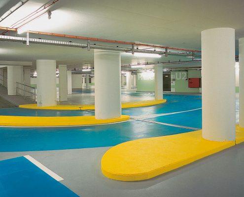 Bodenbeschichtung, Parkhaus